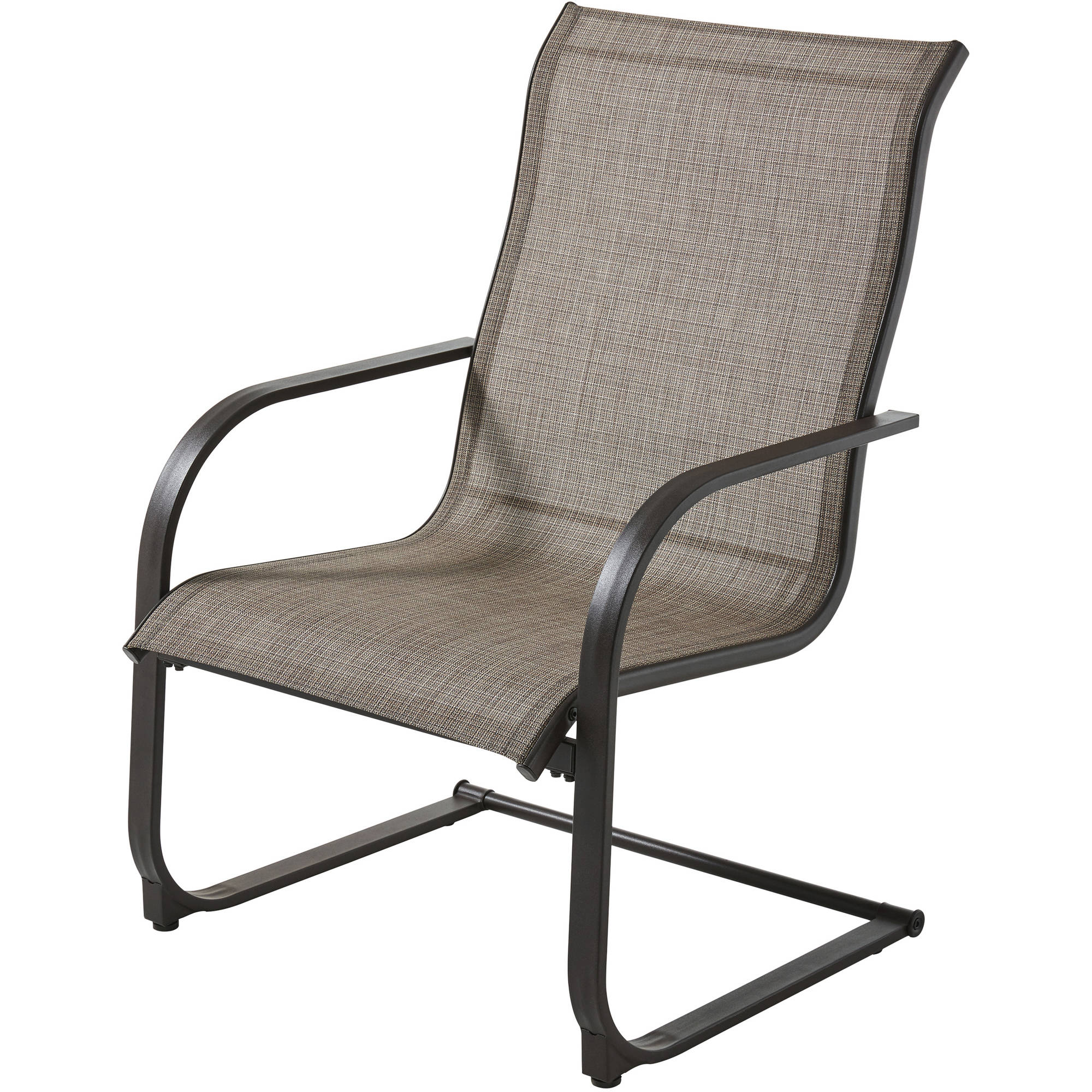 Mainstays Bristol Springs Outdoor Dining Chairs, Gray, Set of 6