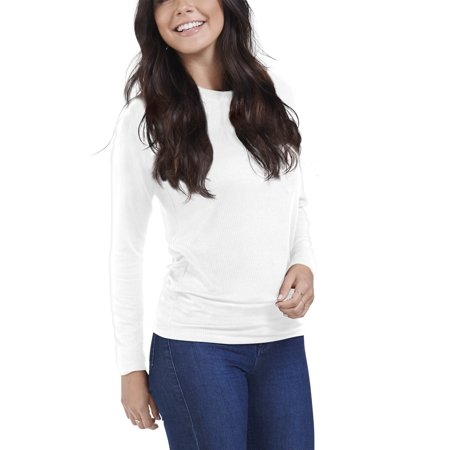 Women's Long Sleeve Ribbed T-Shirt, Available in Sizes up to