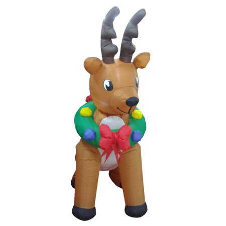 bzb goods animated christmas inflatable reindeer indooroutdoor yard decoration inflatable - Animated Christmas Decorations Indoor