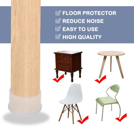 "Clear Chair Leg Caps Pad Cover Furniture Floor Protector 18pcs 2"" 50mm Inner Dia - image 6 de 7"