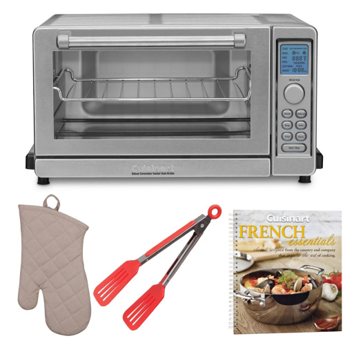 Cuisinart TOB-135 Convection Toaster Oven Broiler w/ Cookbook & Accessory Bundle