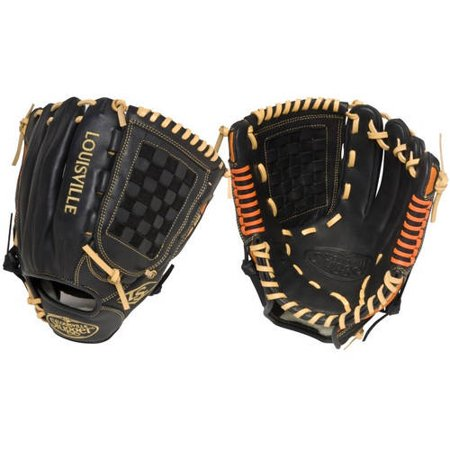 Wilson Slugger Omaha S5 Orange - 12 Inch - Black with Orange WTLFGS5OR6-1200 (Orange And Black Baseball Gloves)
