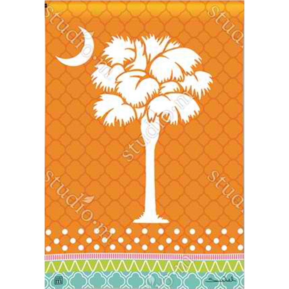 Delightful Magnet Works BreezeArt Garden Flag   Preppy Palmetto