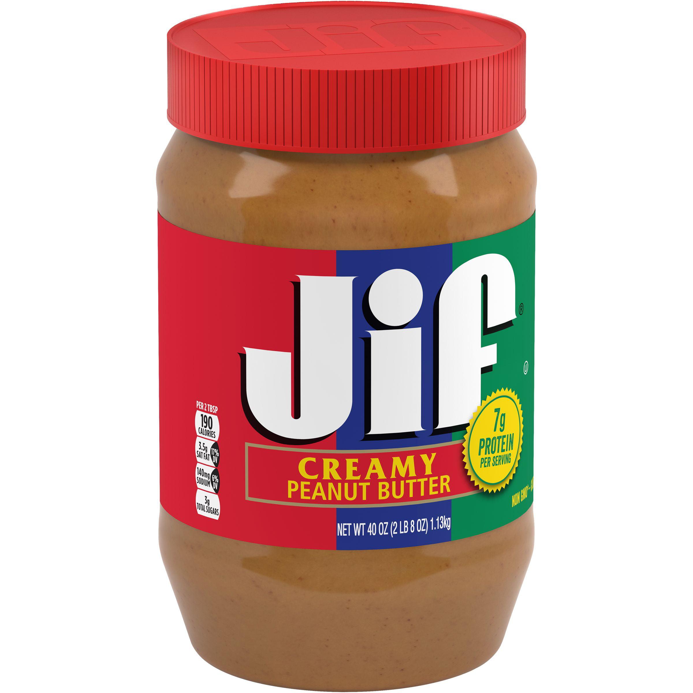 Jif Creamy Peanut Butter, 40-Ounce