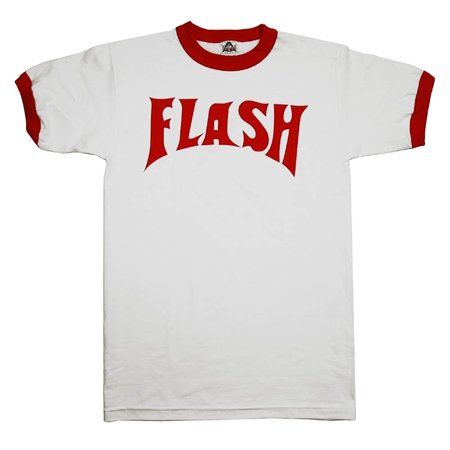 Flash Gordon Logo Ringer - Majestic Logo Ringer Tee