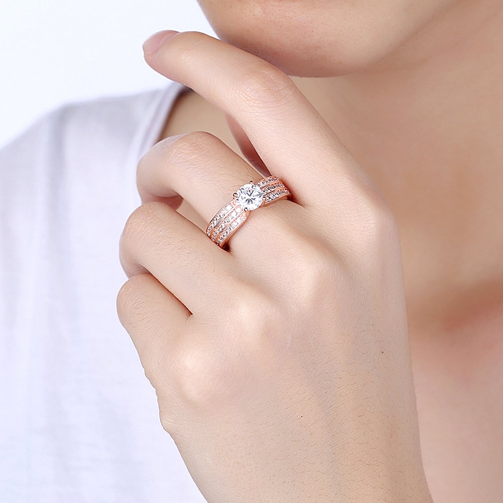 AKR196 Women Fashion Pretty Engagement Rings Exquisite Rings ...