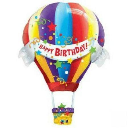Happy Birthday Hot Air Balloon Jumbo Foil Balloon (Multi-colored) Party Accessory](Hot Air Balloon Toy)