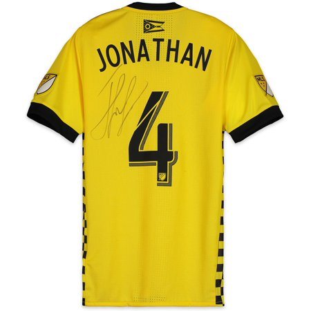 quality design 2dce8 c3b23 Jonathan Mensah Columbus Crew SC Autographed Match-Used Yellow #4 Jersey  vs. New York Red Bulls on November 11, 2018 - Fanatics Authentic Certified