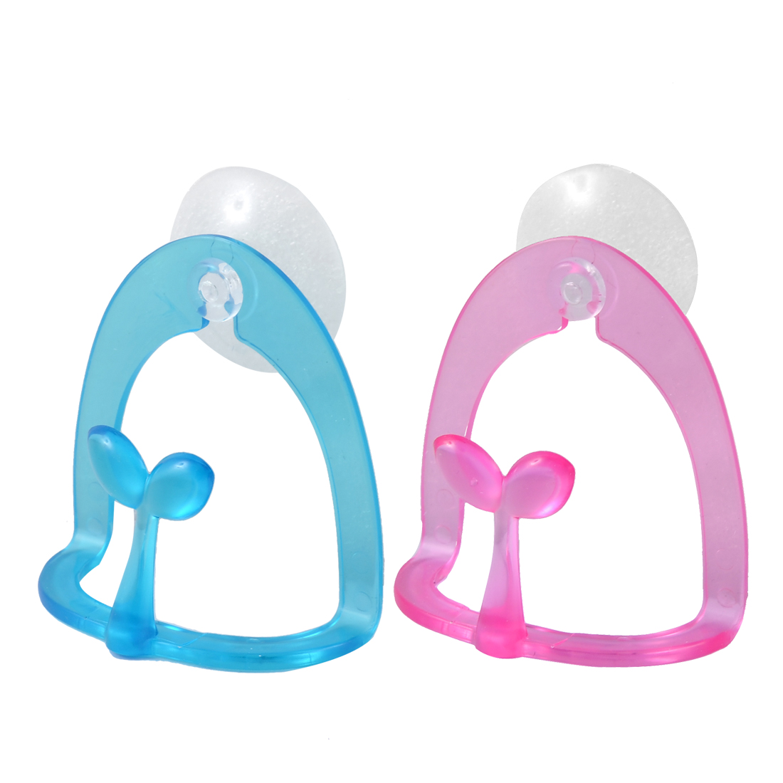 Uxcell Bathroom Wall Mounted Towel Soap Sponge Holder 2 Pcs w Suction Cup