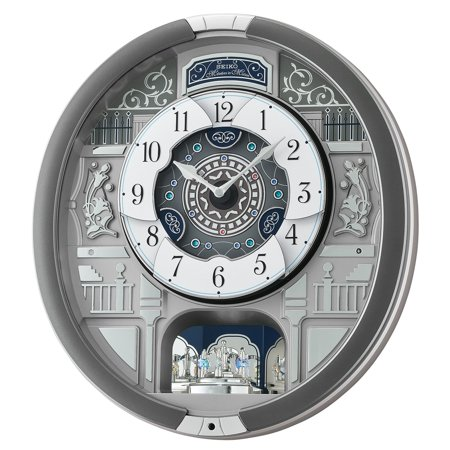 Seiko Melodies In Motion 16W x 3.75D x 17.5H in. Wall Clock with 18 Hi Fi Melodies ()