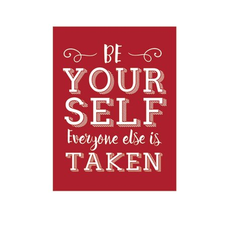 Add this Be Yourself quote stencil to your craft projects. It works great with numerous mediums, including chalks, paints, pastels, and markers.
