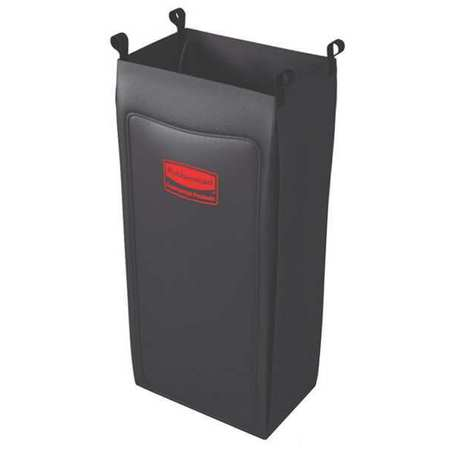 Rubbermaid Replacement Bag,Black,Fabric 1966890
