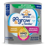 Go & Grow by Similac Toddler Drink, 4 Cans, with 2'-FL HMO for Immune Support and 25 Key Nutrients to Help Balance Toddler Nutrition, Non-GMO Milk-Based Powder, 24 oz Each