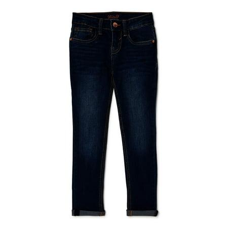 Studio V by Vigoss Girls My Favorite Roll Cuff Ankle Skinny Jeans, Sizes 7-12