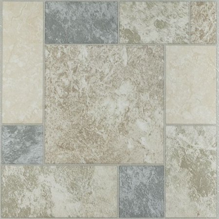 Faux Marble Flooring (Achim Nexus Marble Blocks 12x12 Self Adhesive Vinyl Floor Tile - 20 Tiles/20 sq. ft.)