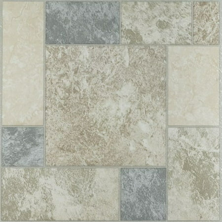 Nexus Marble Blocks 12x12 Self Adhesive Vinyl Floor Tile 20 Tiles20 Sq Ft