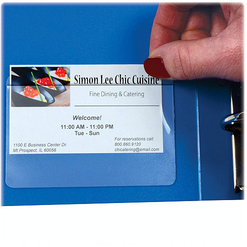 C-Line Self-Adhesive Top Load Business Card Holders