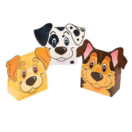 - Fun Express - Puppy Party Favor Boxes for Birthday - Party Supplies - Containers & Boxes - Paper Boxes - Birthday - 12 Pieces