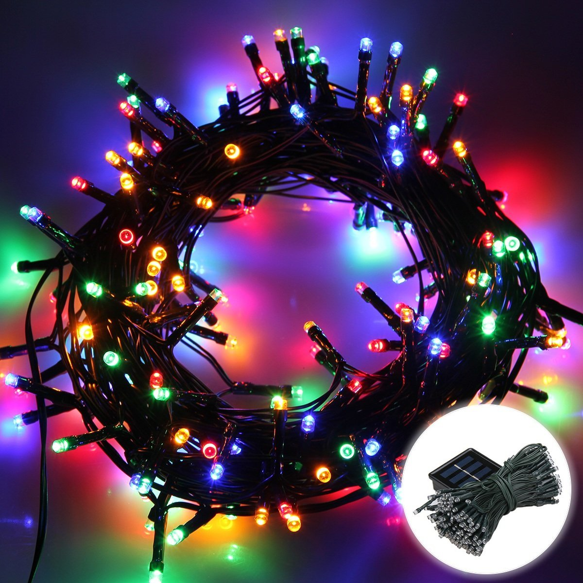 Qedertek Christmas Lights Solar String Lights 72ft 200 LED Fairy Lights 8 Modes Ambiance Lighting for Outdoor... by Qedertek