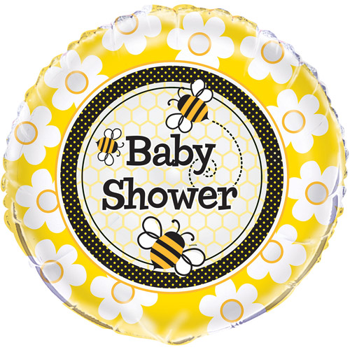 """18"""" Foil Bumble Bee Baby Shower Balloon"""