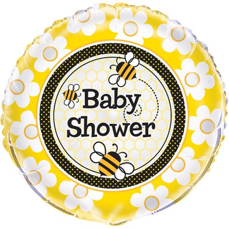 18 Foil Bumble Bee Baby Shower Balloon Walmart