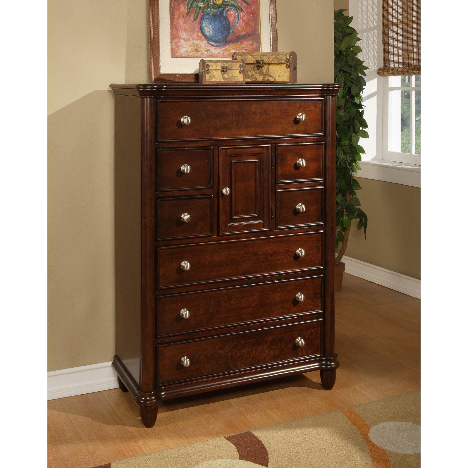 Picket House Furnishings Hamilton 8 Drawer 1-Door Chest - Warm Brown Cherry
