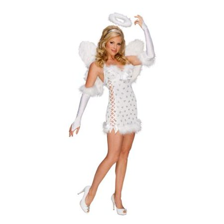 Playboy Fairy Costume (Sexy Playboy White Angel With Wings Dress)