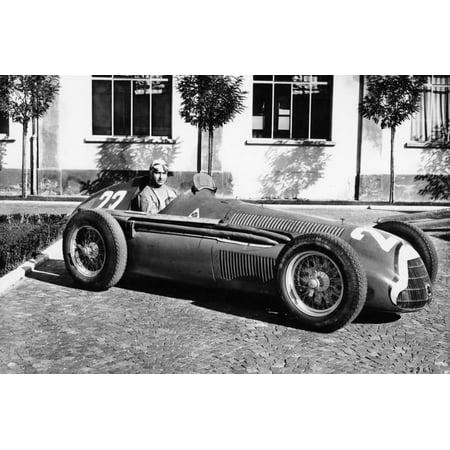 Fangio in Alfa Romeo, Prior to the San Remo Grand Prix, Italy, 1950 Print Wall
