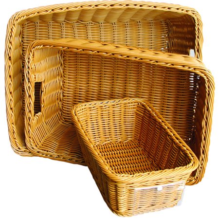 Wicker Bread Baskets - School Mood SchoolSmart Synthetic Wicker Basket
