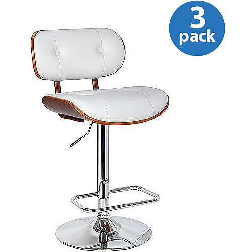 Boraam Smuk Swivel Stools with Adjustable Height, Set of 3, Multiple Colors