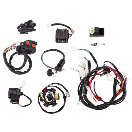 complete electrics wiring harness with wire loom magneto stator for gy6  125cc 150cc atv quad
