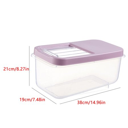 babydream1 Home Cereal Container Airtight Dispenser Locking Lids Measure Cup Rice Flour Box Grain Dry Food Storage Case - image 2 of 7