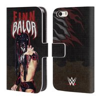 OFFICIAL WWE FINN BALOR LEATHER BOOK WALLET CASE COVER FOR APPLE IPHONE PHONES