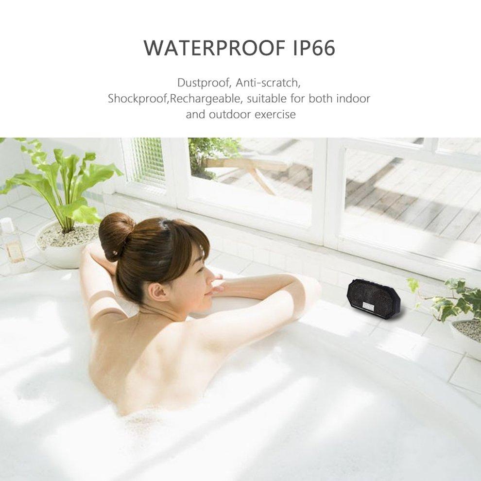 LESHP Portable Mini Waterproof IP66 Shockproof Wireless Bluetooth CSR 4.0 Speaker with Mic