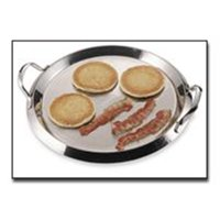 Chef' s Secret® by Maxam® 12-Element High-Quality Stainless Steel Round Griddle with See-Thru Glass Cover