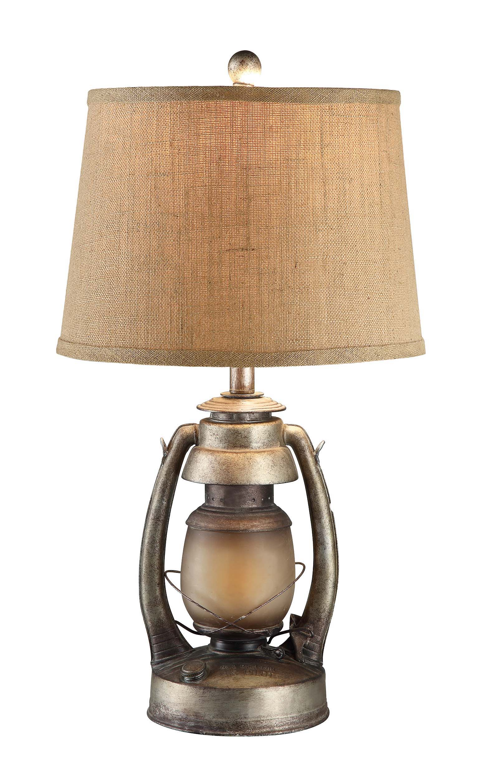 Crestview Collection Oil Lantern 26.75'' H Table Lamp with Empire ...