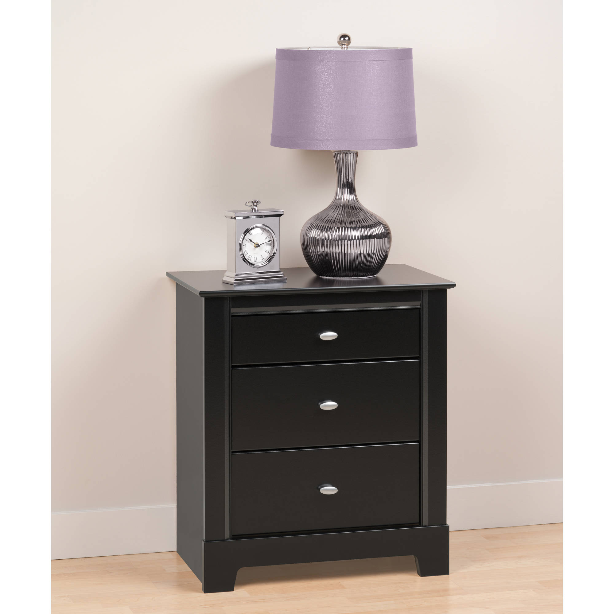 black kallisto nightstand drawer  walmartcom -