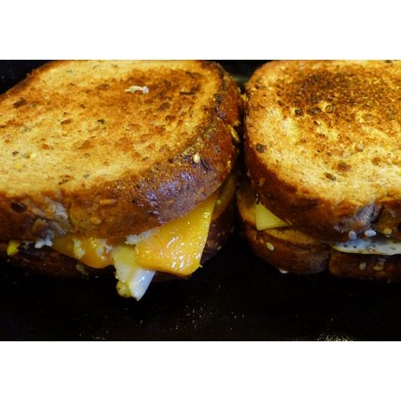 Canvas Print Grilled Cheese Cheese Food Lunch Grilled Sandwich Stretched Canvas 10 x