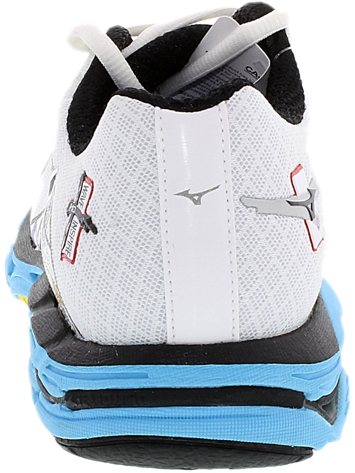 Mizuno Women's Wave Inspire 10 Yellow / Black Blue Ankle-High Running Shoe - 4M