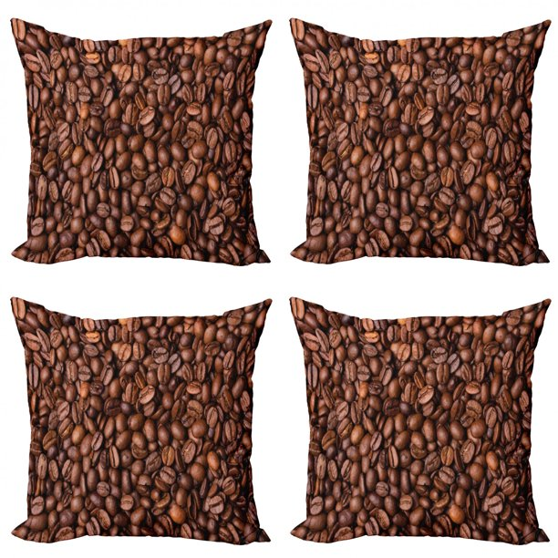 Chocolate Throw Pillow Cushion Case Pack Of 4, Freshly