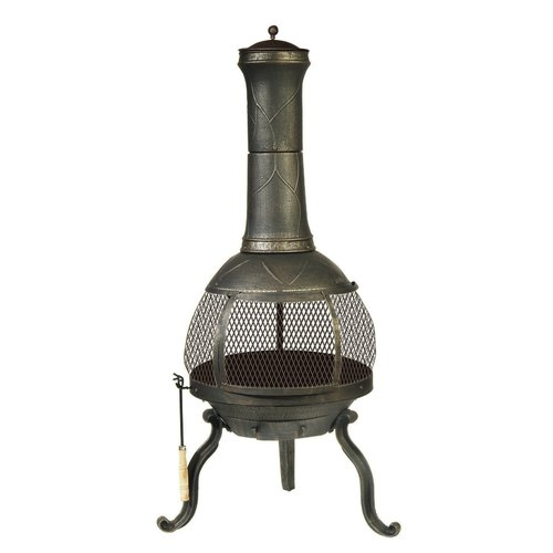 DeckMate Cast Iron Wood Burning Chiminea by