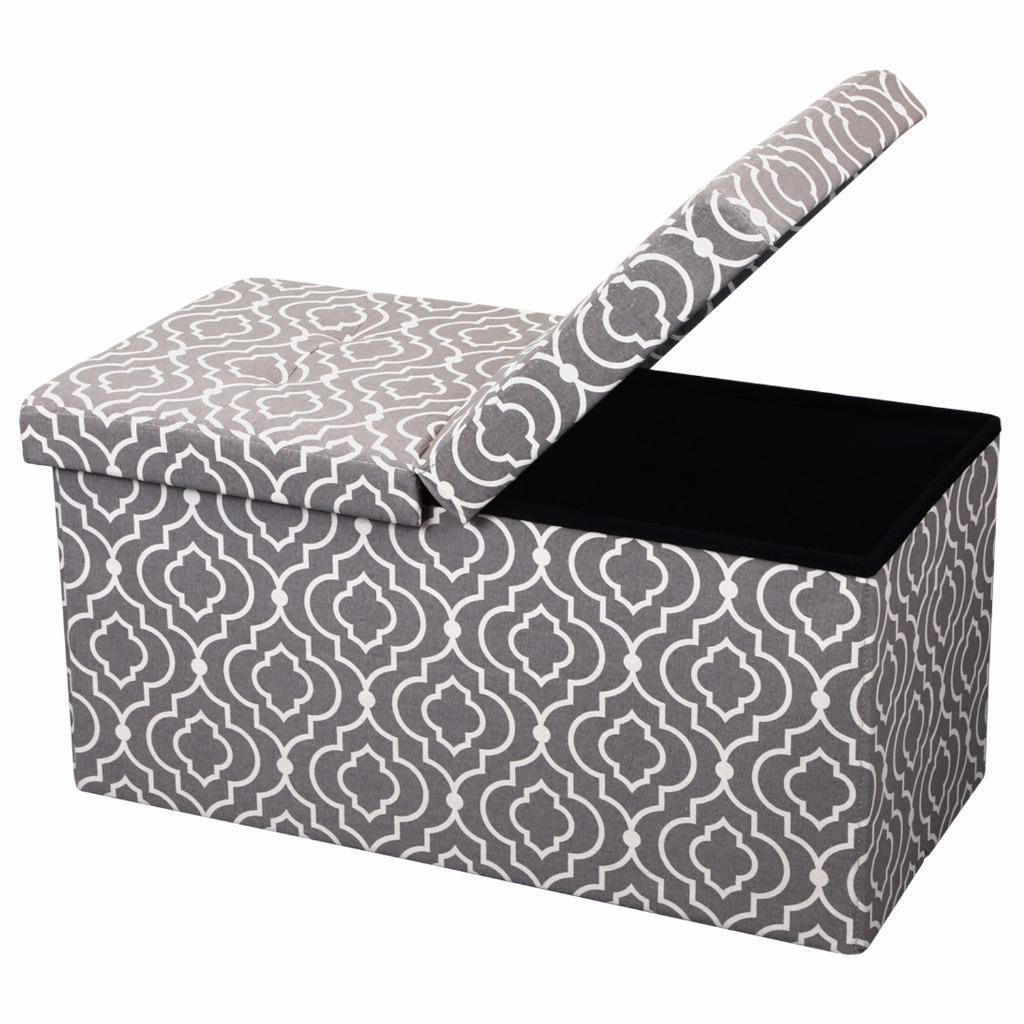 Otto Ben 30 Inch Smart Lift Top Ottoman Bench Multiple Patterns