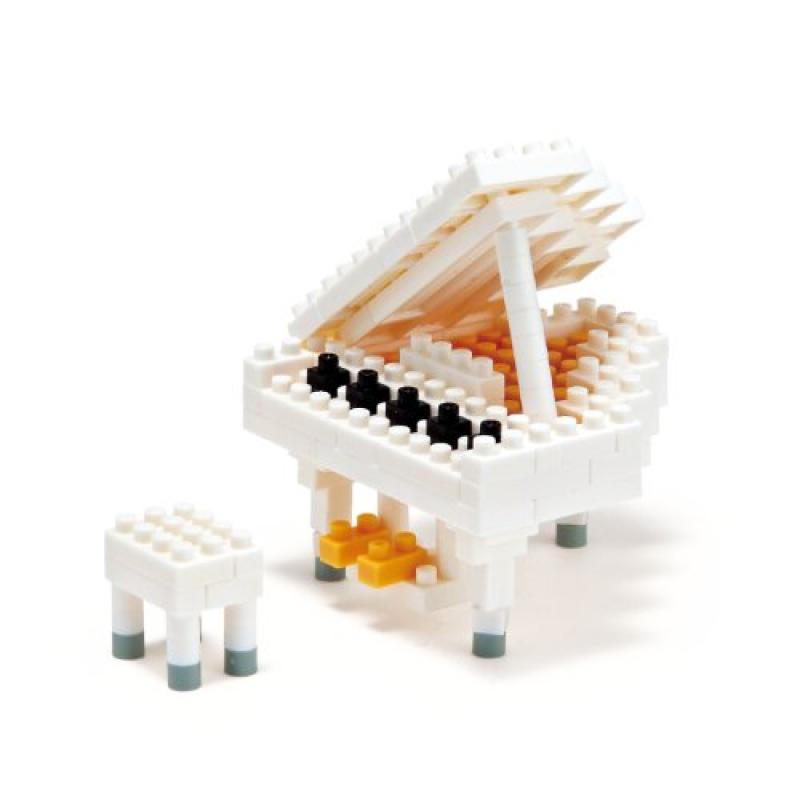Nanoblock Grand Piano White by