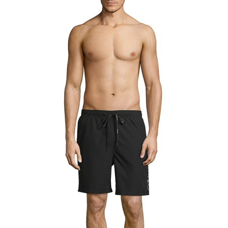 Calvin Klein Bottoms - Modern Volley Solid Swim Trunks