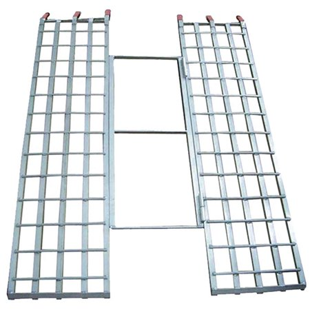 Black Widow Aluminum Tri-Fold Extra-Wide ATV Loading Ramp - 71