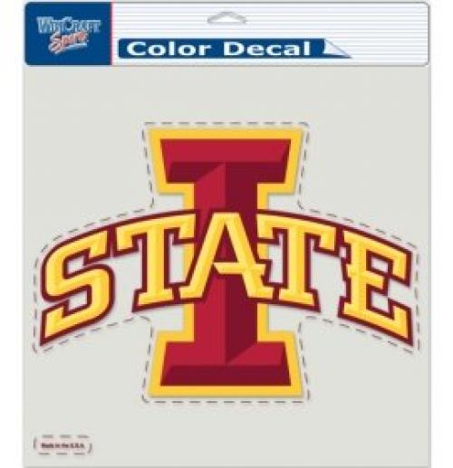 "NCAA Iowa State Cyclones Die-Cut Color Decal, 8""x8"", Team Color"