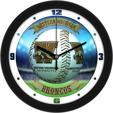 Suntime ST-CO3-WMU-HRWCLOCK Western Michigan Broncos - Home Run Wall Clock
