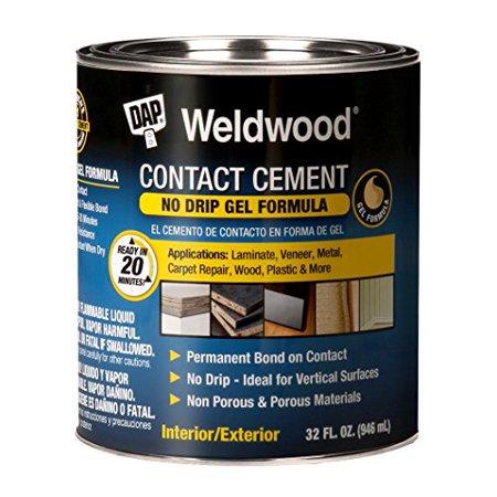 Contact Adhesive Cement Caulk & Sealant - Premium Gel Formula - 1qt - Dap (Surface Adhesive Gel)
