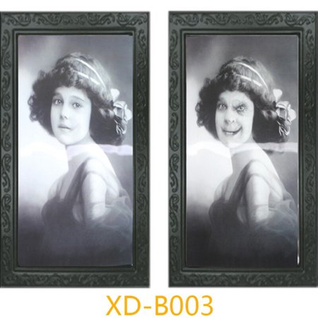 Halloween Ecards Add Photo (18 styles Horror Face-changing Ghost Photo Frame Pictures Frames Changing Face Ghost Halloween Party Decoration Props)
