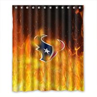 DEYOU Houston Texans Shower Curtain Polyester Fabric Bathroom Size 60x72 Inches
